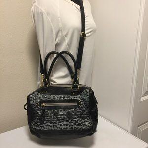 Steve Madden Gray Cheetah Print Crossbody Bag